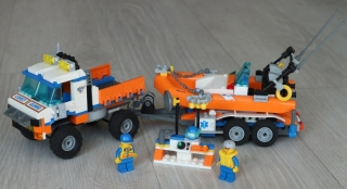 Lego City 7726 Coast Guard Truck with Speed Boat